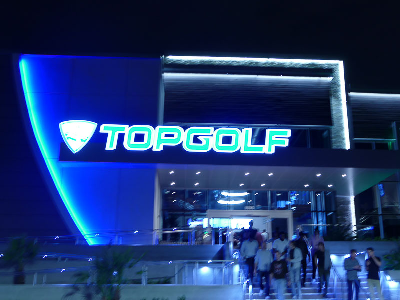 Image of the TopGolf Orlando External Lighted Sign