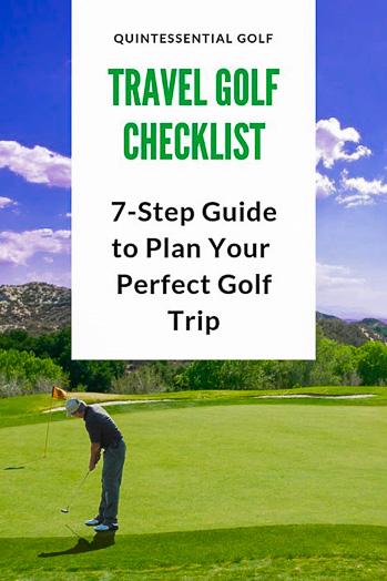 Travel Golf Checklist Image 8